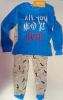 Пижама для мальчиков Синий 116 см 5 лет КП189х Бэмби Украина