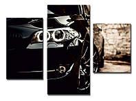 "Модульная картина из 3-х частей ""Машина BMW"""