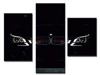 "Модульная картина из 3-х частей ""Машина BMW-2"""
