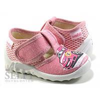Тапочки для девочки розовые Валди машинка 27