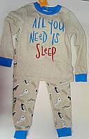 Пижама для мальчиков Меланж серый 122 см 6 лет КП189й Бэмби Украина