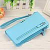 Голубой женский клатч Baellerry Italia Classic (портмоне, кошелек Байлери Италия Классик) + серьги в подарок