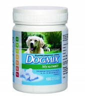 ВМД DOGMIX мультивит 100 таб. уп. витаминно-минеральная добавка для щенков и взрослых собак.