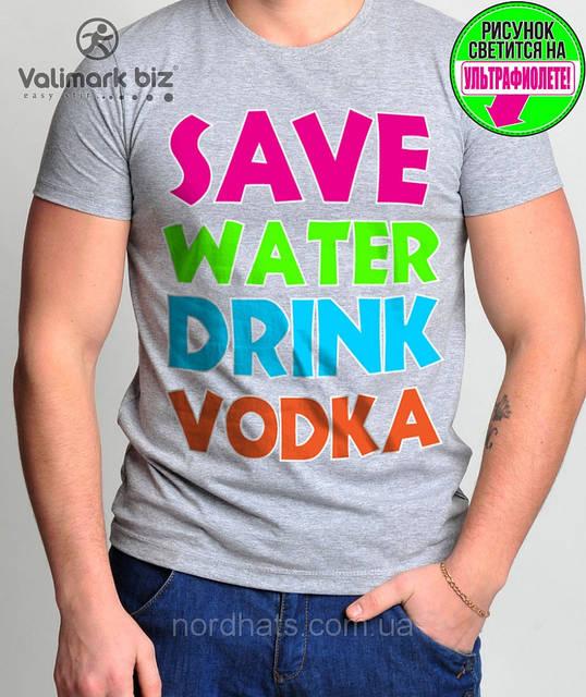 "Футболка молодежная ""Save Water"" "" Valimark biz """