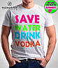 "Футболка молодежная ""Save Water"" "" Valimark biz "", фото 2"