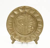 Старая настенная тарелка, бронза, Германия, 14,5 см, фото 1