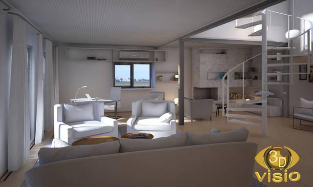 Визуализация лестницы (3D дизайн) 96