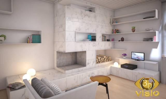 Визуализация гостинной (3D дизайн) 97