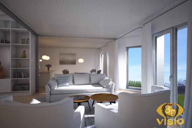 Визуализация гостинной (3D дизайн) 99