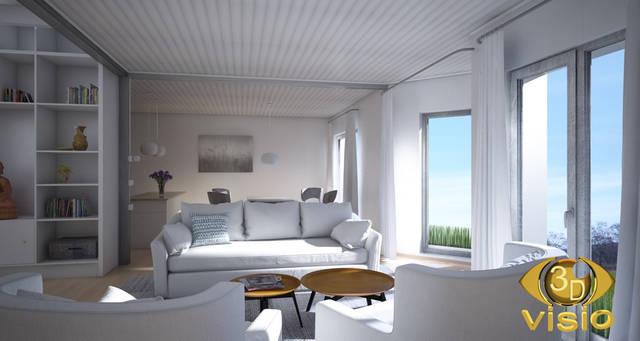 Визуализация гостинной (3D дизайн) 100