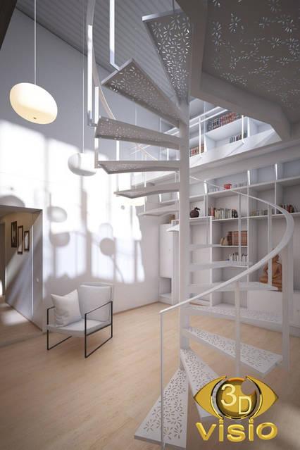 Визуализация лестницы (3D дизайн) 101