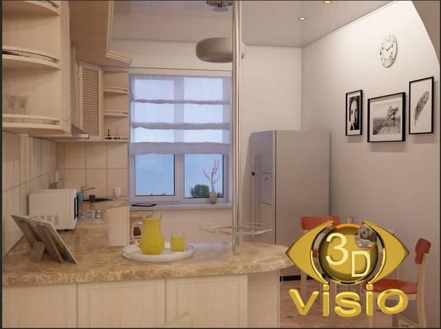 Визцализация кухни (3D дизайн) 104