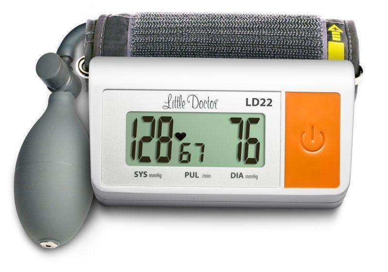 Тонометр полуавтоматический на плечо LD22 с искусственным интеллектом, звуковой индикацией, Сингапур