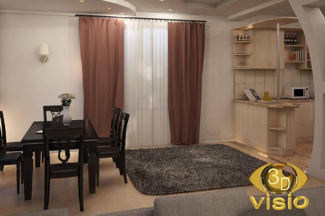 Визуализация гостинной (3D дизайн) 106