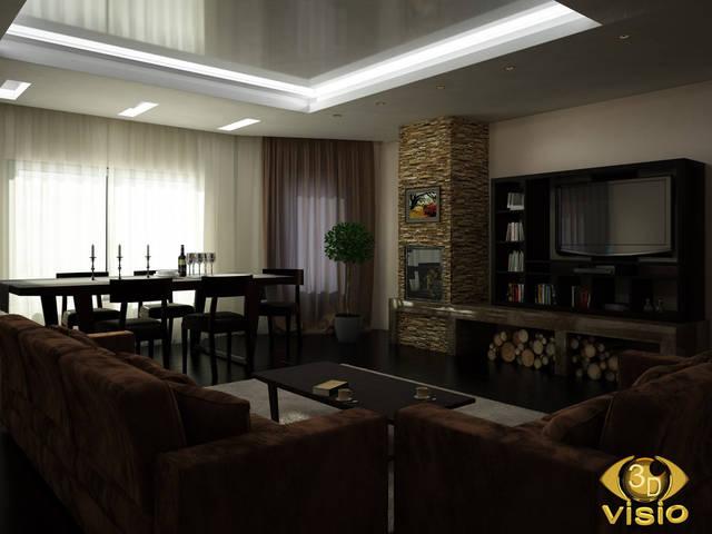 Визуализация гостинной (3D дизайн) 107
