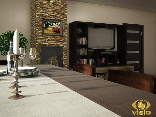 Визуализация гостинной (3D дизайн) 108
