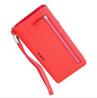 Женский клатч кошелек красный Baellerry Italia Classic (портмоне Баелери Италия Класик)+ серьги в подарок