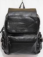 Рюкзак кож.зам три кармана черный, фото 1