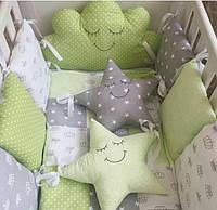 Бортики-защита на детскую кроватку