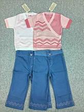 Костюм для дівчинки(кофта, штани), бав.,р.98-104-110 білий Лютик
