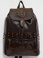 Рюкзак комби шипы темный шоколад, фото 1