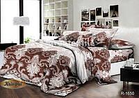 Комплект постельного белья полуторный семейный двуспальный ранфорс 150х220 (простынь, пододеяльник, наволочка)
