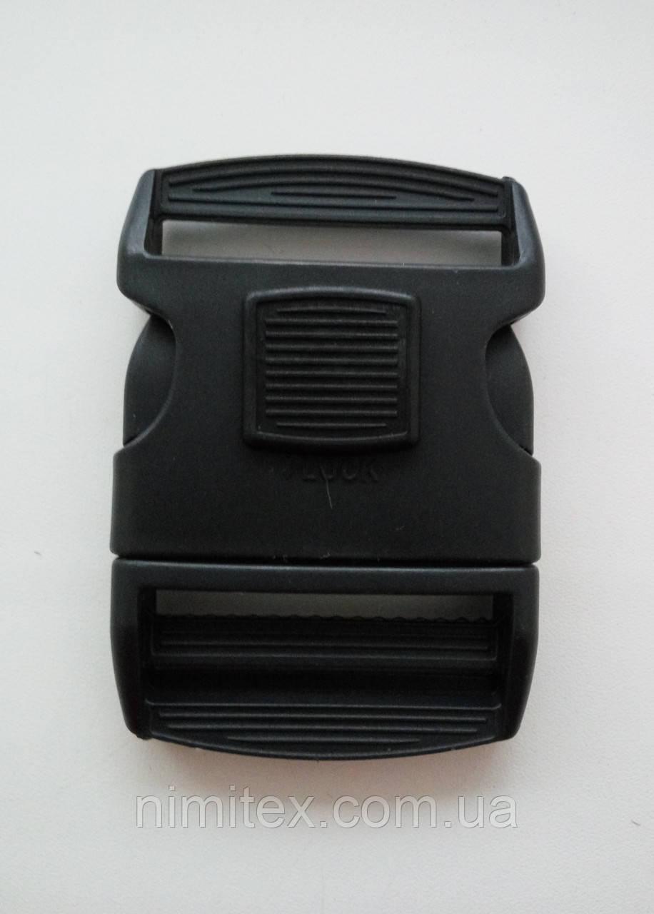 Фастекс с фиксатором 51 мм черный