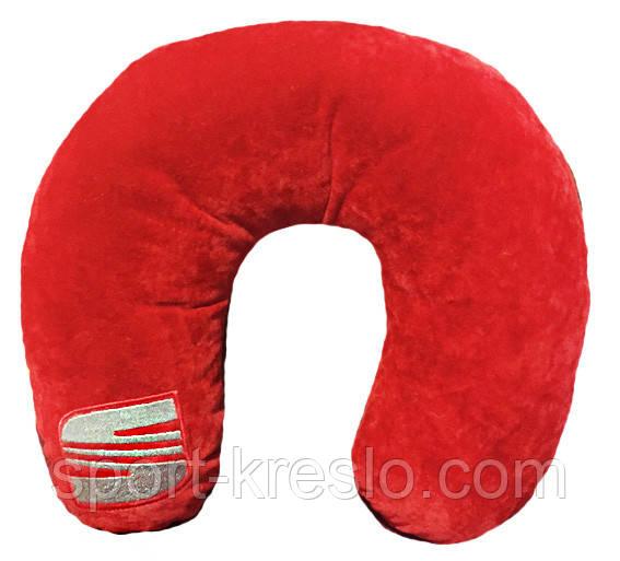 Автомобильная подушка-подголовник под шею  Рогалик