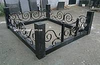 Кованая ритуальная оградка 28