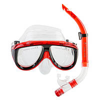 Набор для снорклинга (маска и трубка) Dolvor М213-1+SN52 (красный)