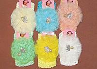 Детская ажурная повязка на голову