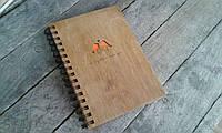 Деревянный блокнот ПТИЦЫ тонированный, фото 1