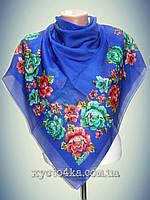Натуральный платок Вышиванка, синий