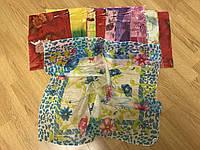 Цветные платки из шифона женские 60*60 см