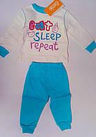 Пижама для девочек Бирюзовый 74 см 7 м ПЖ40у Бэмби Украина