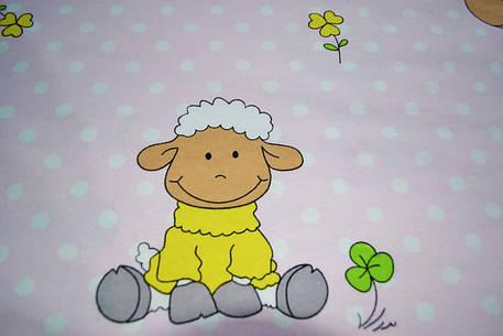 """Фланель """"овечки на розовом"""", фото 2"""
