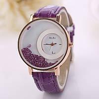 Модные оригинальные женские часы MxRe Orchidea, фиолетовые