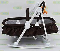 Шезлонг люлька 3 в 1 Baby Tilly дуга с игрушками до 12 кг черный