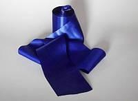 Лента атласная. Ширина 8см., синяя.