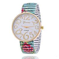 Модные оригинальные женские часы Geneva Platinum Stretchy, бирюзовые