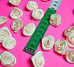 Розочки декоративные кремового цвета, размер 20 мм., фото 2