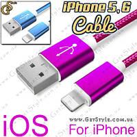 """Кабель USB для iPhone - """"Metallic Lightning"""" - 1.5 метров."""