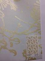 Штора рулонная блєкаут с золотым узором