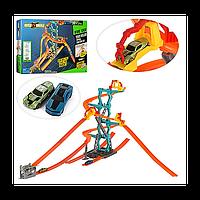 Трек S8830, размер 123*102*63 см, 2 машинки по 6,5 см, суперподарок юному любителю гонок, в коробке 56*36*7 см