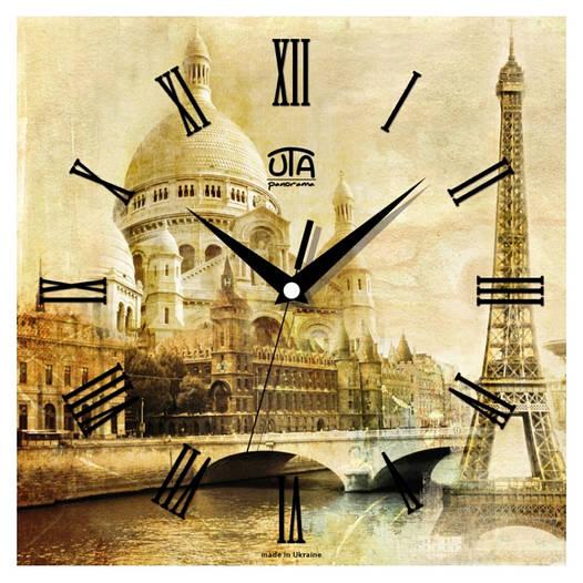 """Настенные часы 300Х300Х16мм """"Франция"""" [МДФ, Открытые]"""