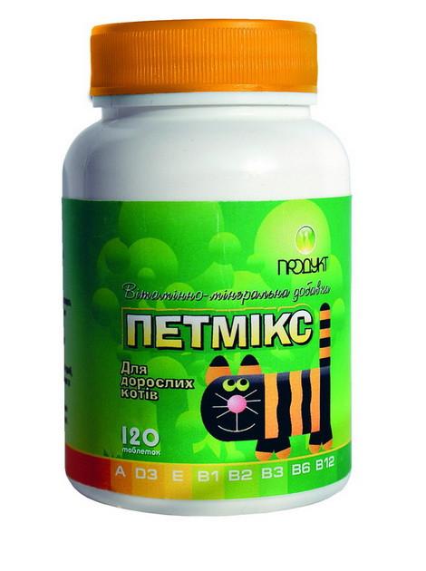 Петмикс для взрослых кошек 60 таб. витаминно-минеральная добавка.