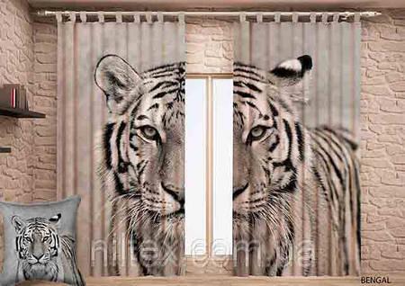 """Штора готовая с цифровой печатью Garden """"Тигр"""""""