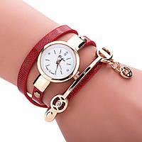 Модные оригинальные женские часы-браслет, красные