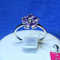 Срібне кільце з фіолетовим цирконієм 1270ф, фото 1