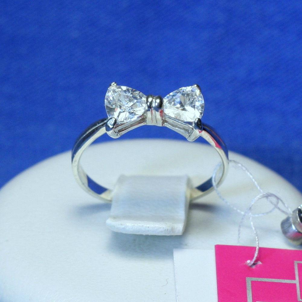 Серебряное кольцо Бантик 12015, фото 1